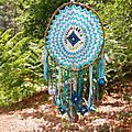 grand attrape-rêve turquoise