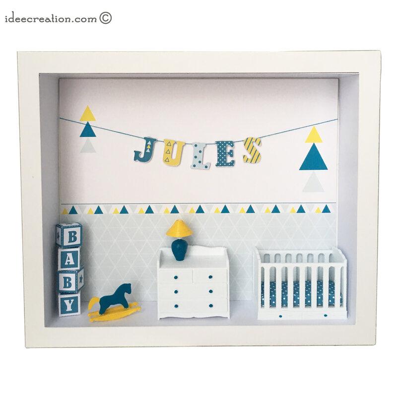 Cadre prenom bebe vitrine miniature 1