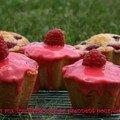 Financiers aux framboises qui se prennnent pour des muffins