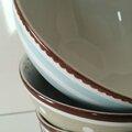 Bols et Bordure arrondie - Peinture sur porcelaine