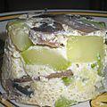 Flan de courgette et champignons