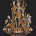 Pendant with david and goliath, germany, late 16th century