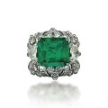 An emerald and diamond ring, by mouawad