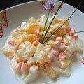 Salade alaska - orange, ananas, carotte et pasta!