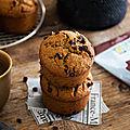 Muffins amande & <b>châtaigne</b> aux pépites de chocolat #glutenfree