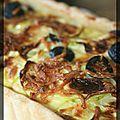 P'tite quiche courgettes, olives et fromage blanc