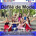 <b>Défilé</b> de <b>Mode</b> le dimanche 7 décembre <b>à</b> 15 h 30 ...