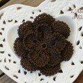 8. Broche-fleur chocolat