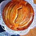 Gâteau banane, amandes et miel