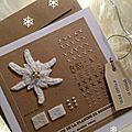 Carte Edelweiss Fil and kraft Marimerveille N° 7