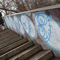 Pause graffiti en montant au belvédère.