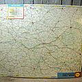 Ancienne Carte du Val de Loire Tôle Publicitaire SHELL BERRE