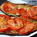 Aubergines aux tomates et au parmesan