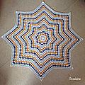 Couverture Granny Etoile au crochet