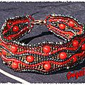 bracelet serpentine rouge
