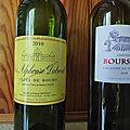Côtes de Bourg : <b>Clos</b> <b>Alphonse</b> <b>Dubreuil</b> 2010, Lalande de Pomerol : Château Bourseau 2018