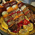 Idée repas brochettes de grill mix et mais