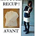 couture récup, tuto reconstructing, comment couper un pull en laine