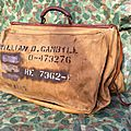 Vintage WWII Leather Canvas GARMENT