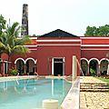 Ancienne exploitation agricole devenue hotel de luxe , bienvenue à l'hacienda temozon sur - mexique