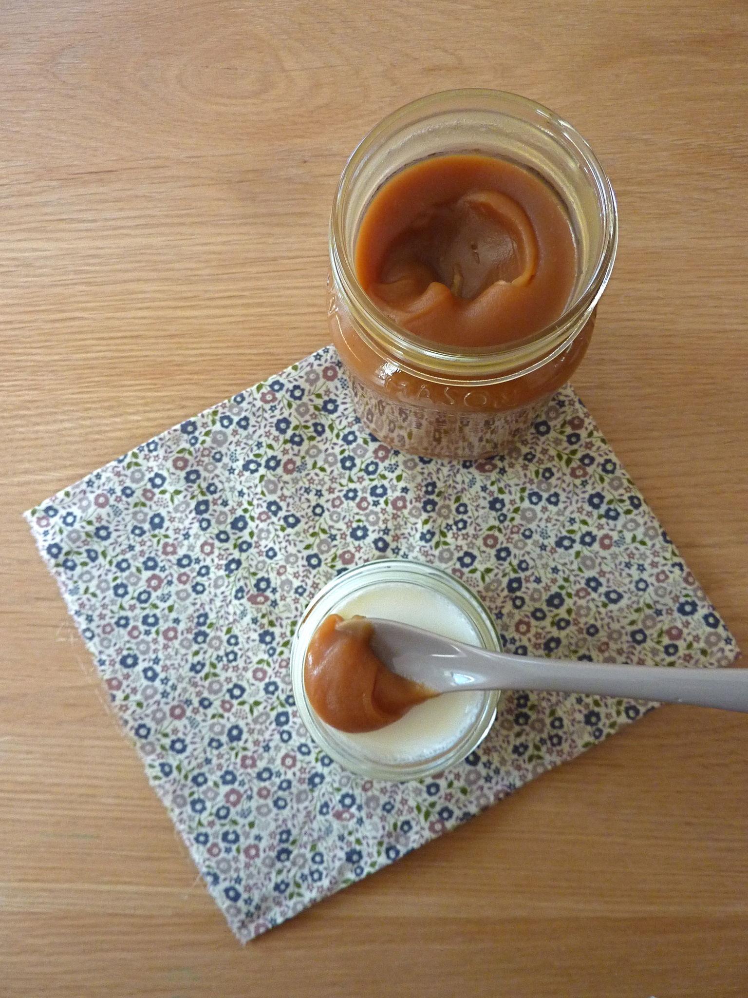 Caramel à la fleur de sel et yaourt maison