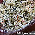 Salade de perles marines au surimi