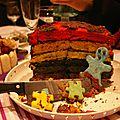 Rainbow cake tutti frutti