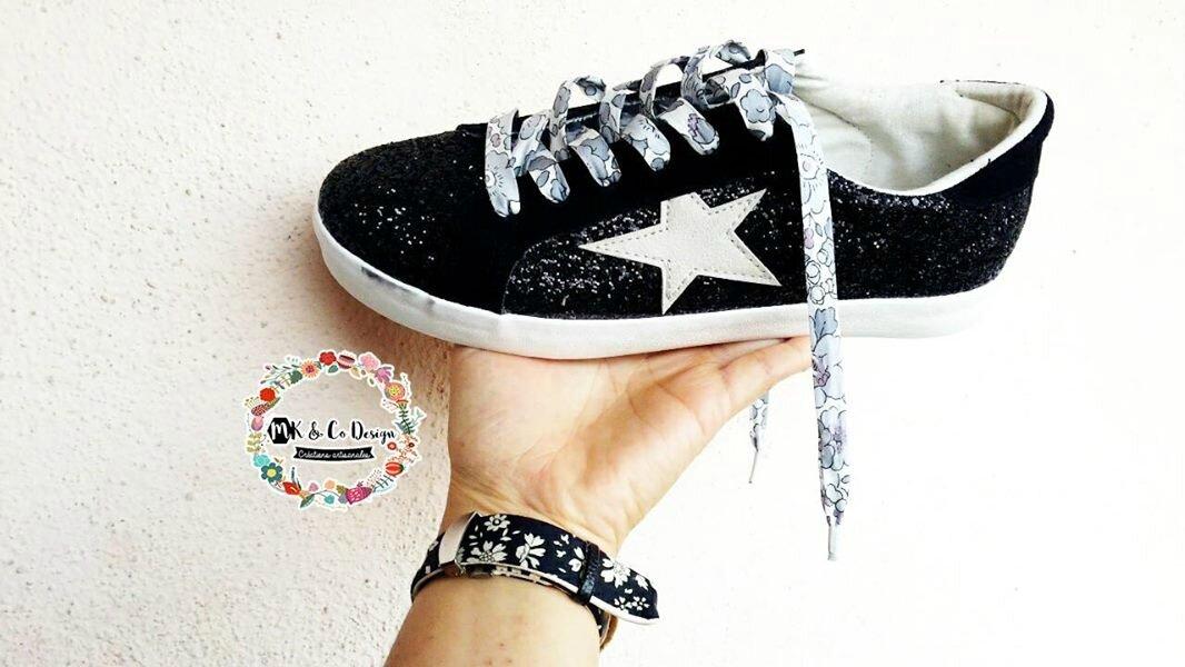 Tutoriel : ma touche de Liberty sur mes shoes........... mes lacets