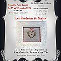 Exposition les brodeuses du donjon - sainte geneviève des bois (91)