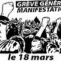 Grève générale et manifestations à partir du 18 mars 2014 !