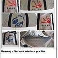 page sac sport gris bleu