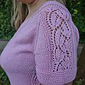 Test tricot, dentelle et rose!