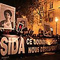 Manifestation de lutte contre le sida