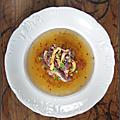Nenguk d'aubergine (consommé froid d'aubergine à la coréenne)