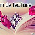 Bilan de lecture 2015