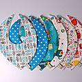 Bavoir bandana bavoir dentition foulard bébé personnalisé bandana bib personnalized made in france