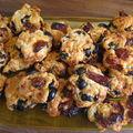 Cookies tomates séchés/olives noires