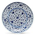 A blue and white 'Lotus' dish, 18th century