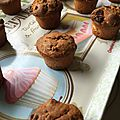 Muffin cranberries chocolat blanc
