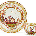 Tea bowl and saucer with Chinoiserie decoration, Meissen, ca. <b>1730</b>