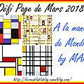 Défi page de mars 2018 - pages de sandy et ciléa