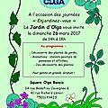 26 mars 2017 : invitation au jardin d'olga