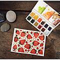 Des fraises à l'aquarelle