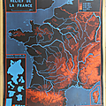 Collection ... affiche relief de la france / contours de la france