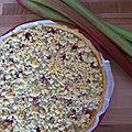 Tarte rhubarbe et framboises du jardin !