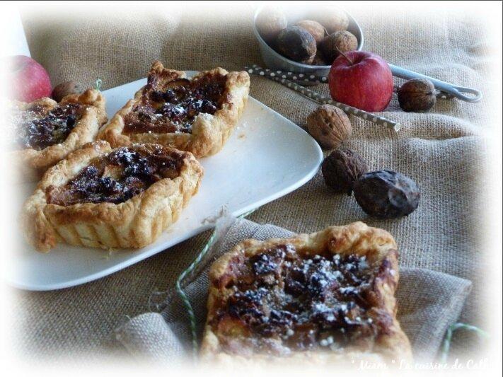 """ღ """" MIAM """" Tartelettes aux pommes et Noix"""