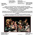 Invitation au theâtre le 7 mars 2015