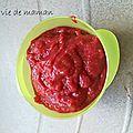 Compotée pommes fraises citronnée