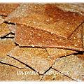 Rye <b>crackers</b>