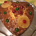 Mon cake aux fruits confits de pierre hermé en cœur !!!